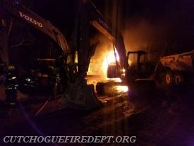 Excavator fire 11/2017