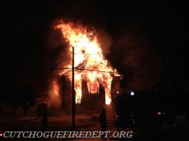 Mutual Aid to Southold - Church Fire 3/2015