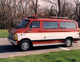 856 - 1990 Dodge Fire Police van
