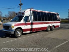 8-5-9 - 1995 ford bus. transportation / evacuation unit. Retired January 2017