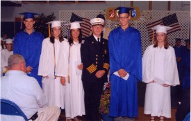 Chief Michael C. Boken with 2008 scholarship winners