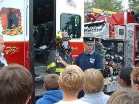 2007 Fire Prevention visit to the schools