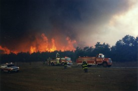 1995 Wildfires - Sunrise Highway Westhampton: 8-5-3 is in the center