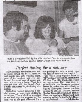 CFD Delivers Baby 6/26/79