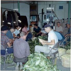 corn husking 1966