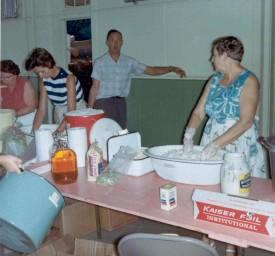 Mixing Potato salad 1966
