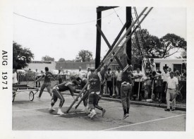 1971 Cart ladder at Freeport Drill