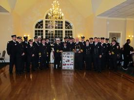 "2011 - CFD panthers make special presentation to thier driver Joe Zuhoksi Jr. ""Thanks for the Ride"""