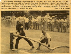 Cart Hose Contest 1980's - John Behr, James Fogarty Sr.