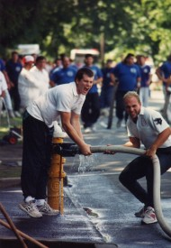 Rockville Centre 1993 - Course Record in Efficency 9.08 sec.  Pictured: John Fogarty (l) and Brian Cybulski (r)