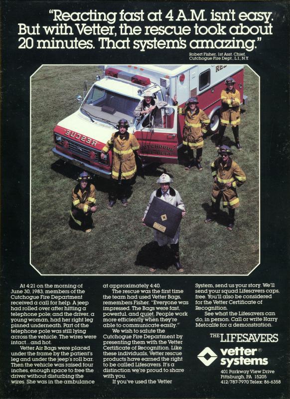 1983 Magazine Ad - Firehouse magazine