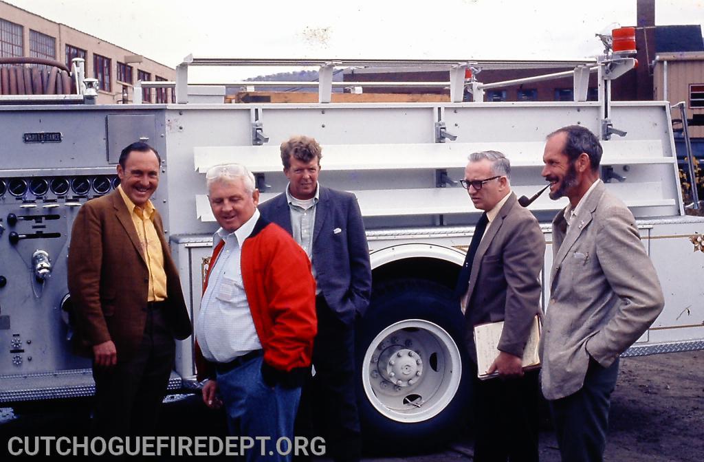 L to R: Phil Horton, Mickey McBride, Gerald Wells, Salesman, William Midgley