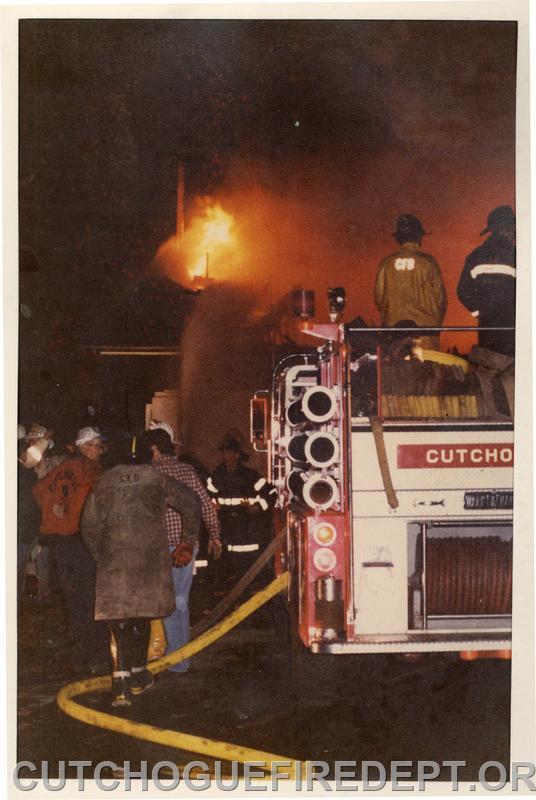 Barn Fire in Mattituck 1980's