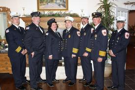 CFD Chiefs and Captain pictured with EMS Providers of the Year