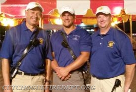 2017 CFD Chiefs:(L to R) Chief Larry Behr, 2nd Asst. Chief Amos Meringer, 1st Asst. Chief William Burns