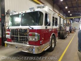 Bayville NY ladder truck under construction