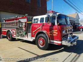 Engine 8-5-3 all shined up, ready for its last parade before it's retirement in the near future..