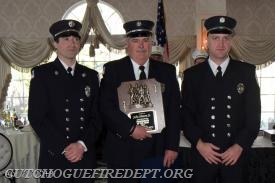 Firefighter of the Year, John Hinton Sr with his (2) sons Joe and John