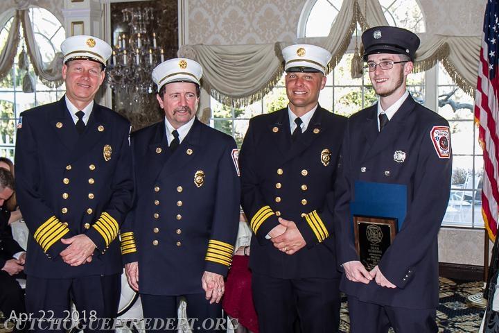 2017 Probationary member of the Year Sean Robbins