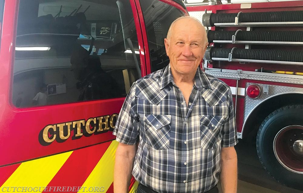 Allan Glover, a longtime member of Cutchogue Fire Department, will cook pancakes for Sunday's scholarship breakfast at the firehouse. (Credit: Steve Wick