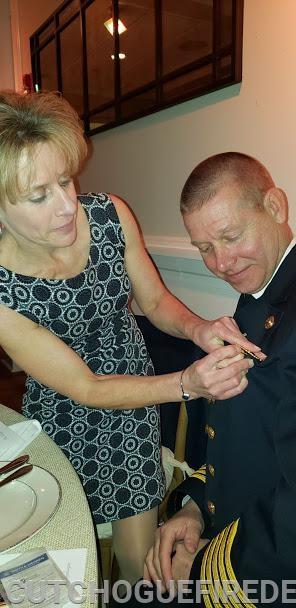 Ex-Chief Behr recieving his Ex- Cheif Badge