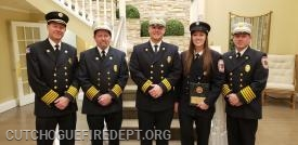 Chiefs with Probationary member of the year Jackie Berkoski