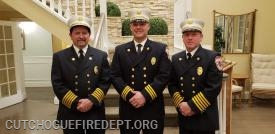 2019 CFD Chiefs: l to r Chief Tom Shalvey Jr., 1st asst. Chief Amos Meringer, 2nd Asst. Chief Michael C. Boken