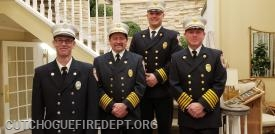 Company Captain Chris Voegel (l) with the Cheifs
