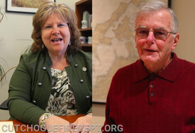 Co-Grand Marshals; Linda Carlson and Ex-Chief Jum Fogarty Sr.