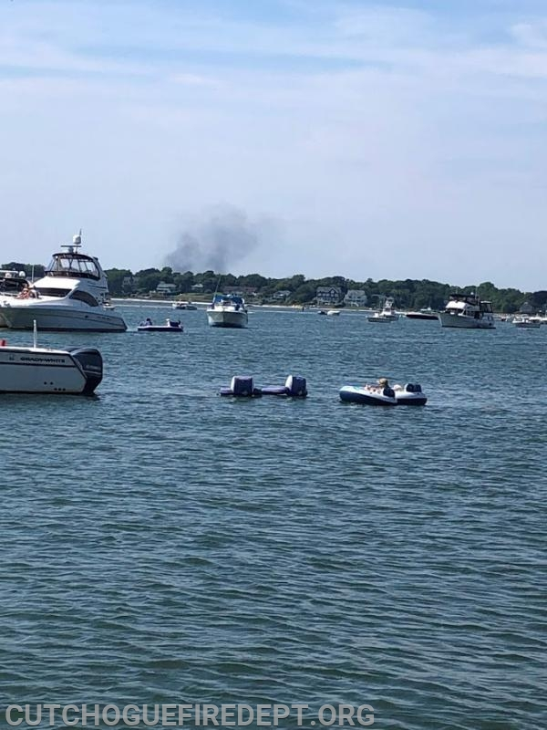 Smoke from Fire as seen from Peconic Bay