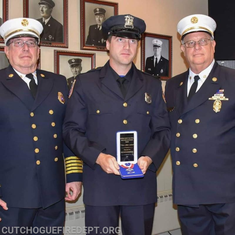 Peace Officer Medal Recipient: Southold Town Police Officer / CFD Firefighter John Hinton Jr.